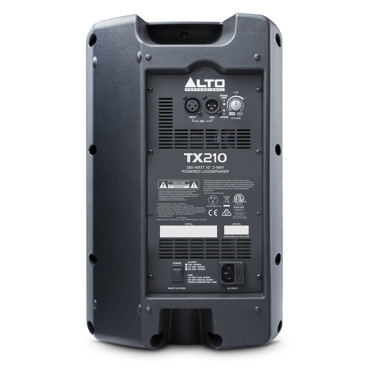 "ALTO TX210 Active 10"" Speaker 300W"