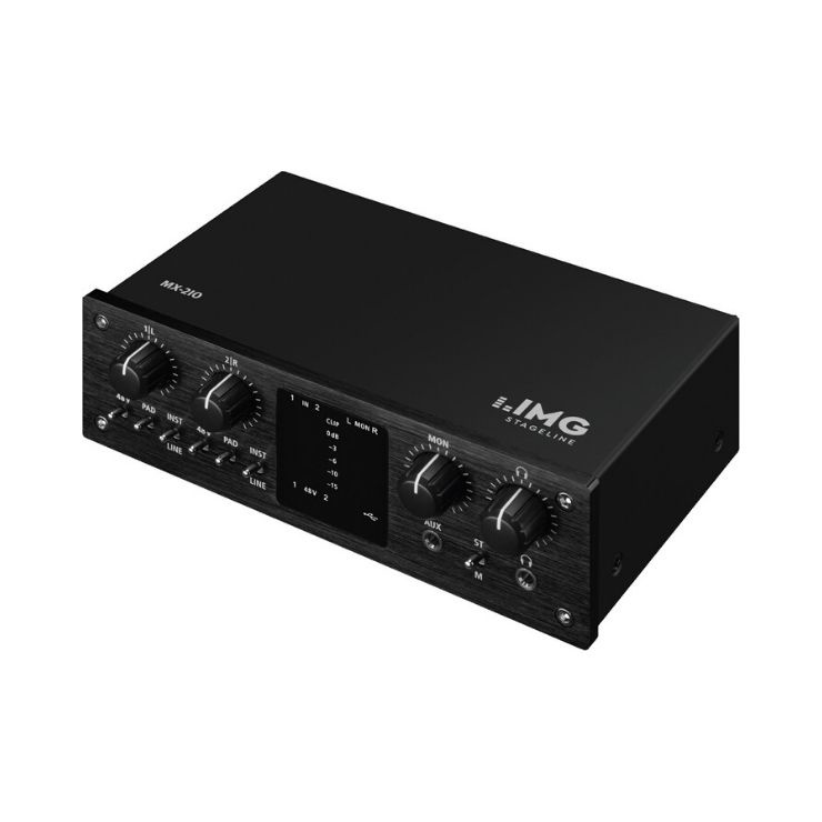 IMG Stageline IMG Stageline MX-2I0 2 Channel USB Audio Interface