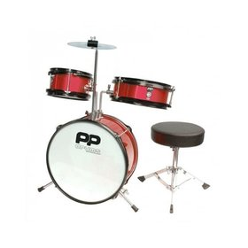 P PERCUSSION Performance Percussion PP Junior 3 Piece Drum Kit (Red)