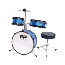 P PERCUSSION Performance Percussion PP Junior 3 Piece Drum Kit (Blue)