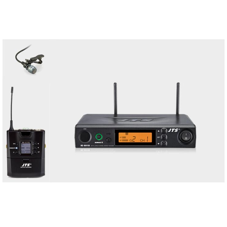 JTS JTS RU-8011/RU-G3TB+CM501 UHF Lapel Wireless System with REMOSET