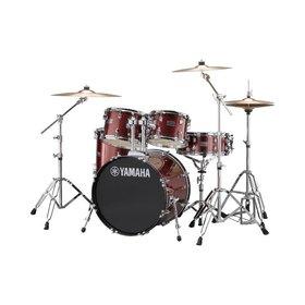 """Yamaha Yamaha Rydeen 20"""" Rock Kit With Cymbals Burgundy"""