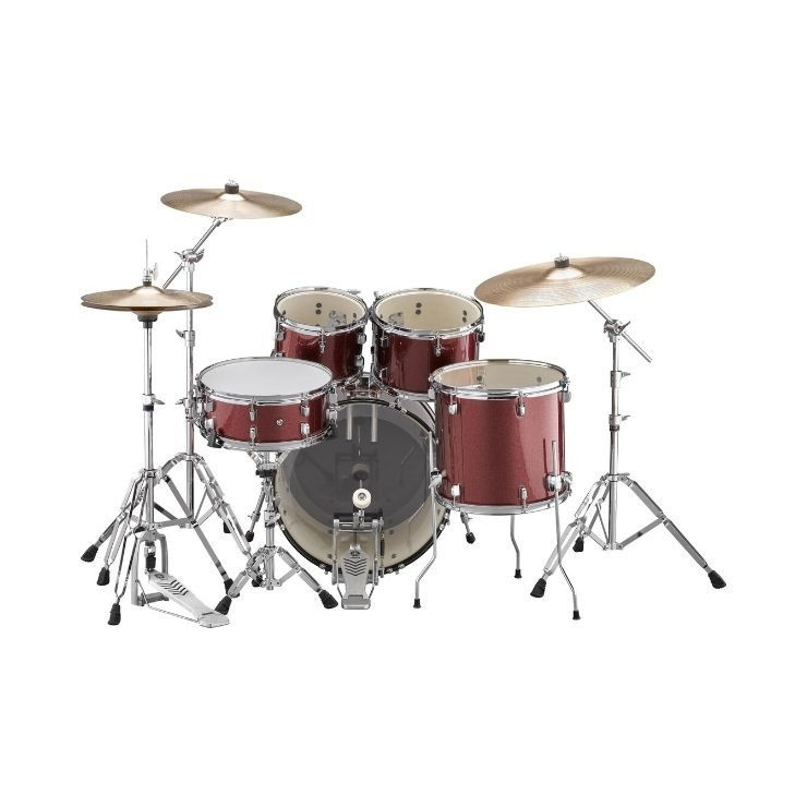 "Yamaha Yamaha Rydeen 20"" Rock Kit With Cymbals Burgundy"