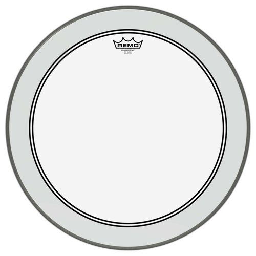 """Remo Remo Powerstroke 3 Clear 22"""" Dot Bass Drum Head"""