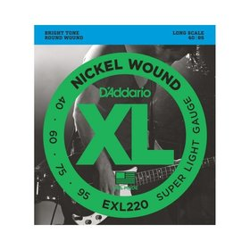 D'addario D'Addario EXL220 Bass Guitar Strings, Super Light (40-95)