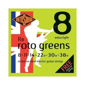 Rotosound Rotosound R8 Nickel Electric Guitar Strings, Extra Light (8-38)