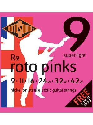 Rotosound Rotosound R9 Nickel Electric Guitar Strings, Super Light (9-42)