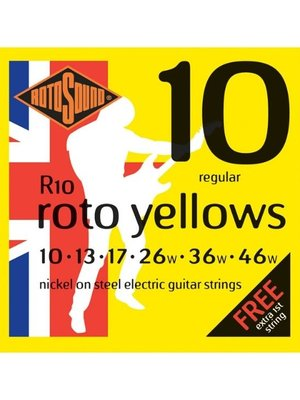 Rotosound Rotosound R10 Nickel Electric Guitar Strings, Regular (10-46)