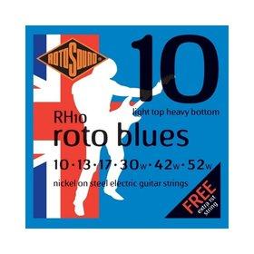 Rotosound Rotosound RH10 Nickel Electric Guitar Strings, Light Top Heavy Bottom (10-52)