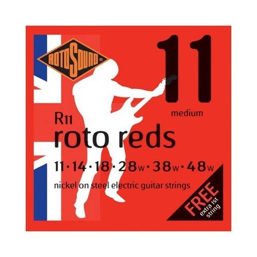 Rotosound Rotosound R11 Nickel Electric Guitar Strings, Medium (11-48)