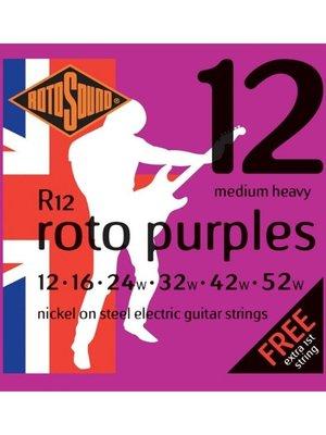 Rotosound Rotosound R12 Nickel Electric Guitar Strings, Medium Heavy (12-52)