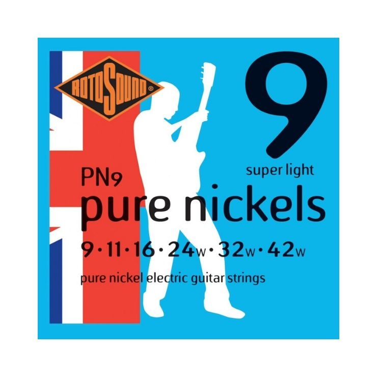 Rotosound Rotosound PN9 Pure Nickels Electric Guitar Strings (9-42)