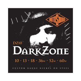 Rotosound Rotosound DZ10 Dark Zone Nickel Wound Electric Guitar Strings (10-60)