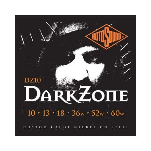 Rotosound Rotosound DZ10 Dark Zone Nickel Wound Electric Guitar Strings (10-60)