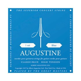 AUGUSTINE Augustine Classic Blue Classical Guitar Strings - Regular Trebles / High Tension Basses