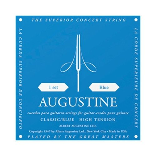 AUGUSTINE Augustine Classic Blue Classical Guitar Strings - Regular Trebles / High Tension Basses