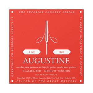 AUGUSTINE Augustine Classic Red Classical Guitar Strings - Regular Tension Trebles / Medium Tension Basses