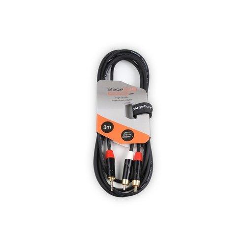 STAGECORE iCORE215LU3 3m 3.5mm Stereo Mini Jack Plug - 2 x Male RCA Phono Plugs,