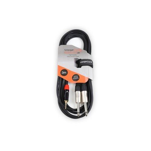 STAGECORE iCORE170LU3 3M 3.5mm Stereo Mini Jack Plug - 2 x 6.35mm Mono Jack Plugs
