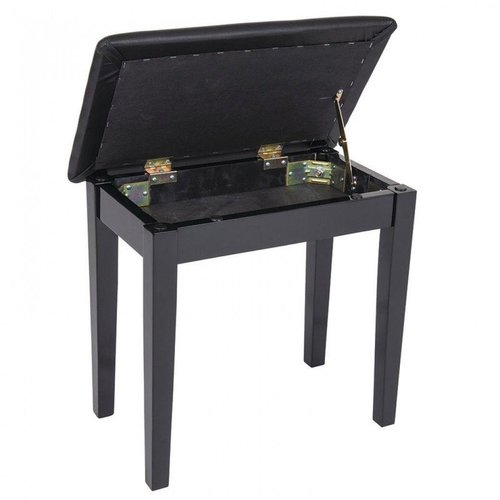 KINSMAN KINSMAN PIANO BENCH - WITH STORAGE - SATIN Black