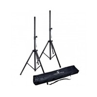 Soundsation SPST-SET-AIR-BK Deluxe AIR Safety Speaker Stands With Bag