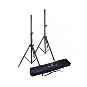 Soundsation Soundsation SPST-SET-AIR-BK Deluxe AIR Safety Speaker Stands With Bag