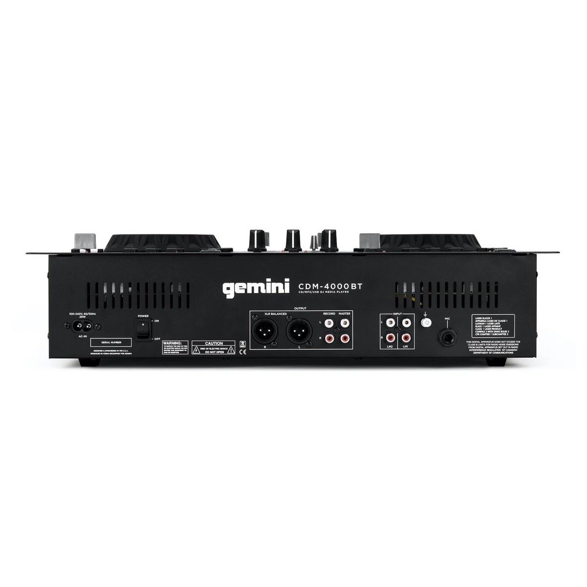 Gemini Gemini CDM-4000BT Dual CD/MP3/Media Player