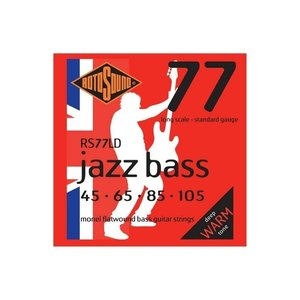 Rotosound Rotosound Jazz Bass Flatwound RS77LD Bass Strings 45-105 Monel