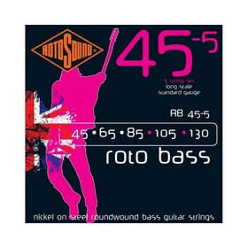 Rotosound Rotosound RB45-5 Roto Bass Nickel on Steel Roundwound Bass Guitar Strings 45-130 (5 String)