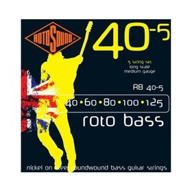 Rotosound Rotosound RB40-5 Roto Bass Nickel on Steel Roundwound Bass Guitar Strings 40-125 5-String Long Scale