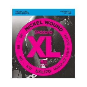 D'addario D'Addario EXL170 Nickel Wound 45-100 Bass Guitar Strings