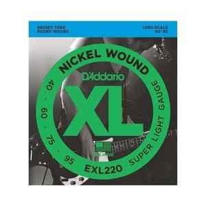 D'addario D'Addario EXL220 Nickel Wound 40-95 Bass Guitar Strings