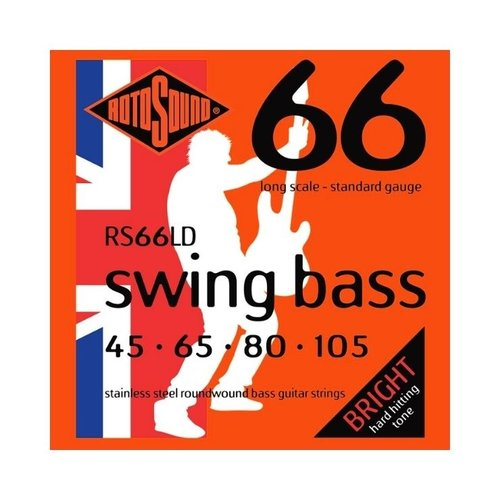 Rotosound Rotosound Swing Bass RS66LD Bass Strings 45-105 Stainless Steel