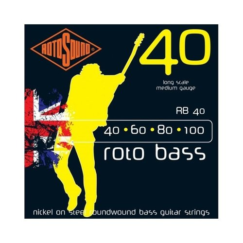 Rotosound Rotosound RB40 Roto Bass Nickel on Steel Roundwound Bass Guitar Strings