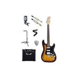 Chord Chord Electric Guitar Pack Tobacco Sunburst