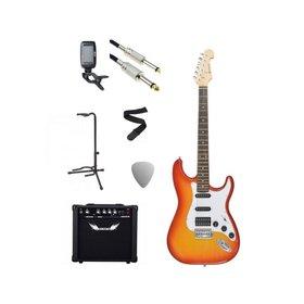 Chord Chord Electric Guitar Starter Pack Cherry Sunburst