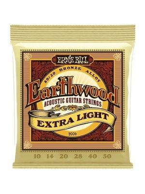 Earth Wood Ernie Ball Earthwood 80/20 Bronze Extra Light Set 10-50