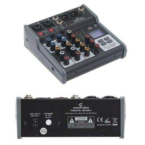Soundsation MEO-MIX 202M Audio Mixer With Bluetooth