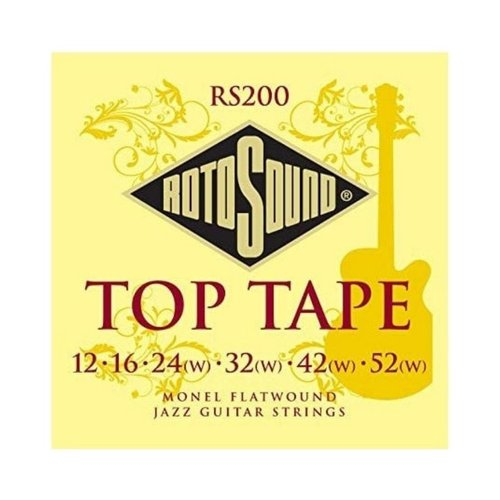 Rotosound Rotosound RS200 Top Tape Monal Flatwound Electric Guitar Strings 12-52