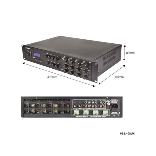 adastra Adastra A8 8-Channel / 4-Zone Stereo Mixing Amplifier