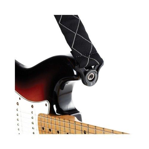 D'addario D'addario 50MM Auto Lock Guitar Strap - Black Diamond