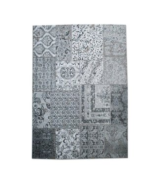 By-Boo Teppich Patchwork 200x300 cm - Grau