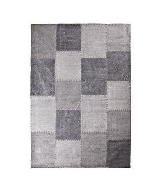 By-Boo Teppich Patchwork Mono 160 X 230 Cm - Grau