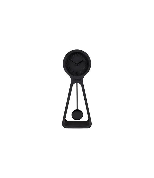 CLOCK PENDULUM TIME ALL BLACK