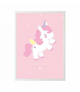 A Little Lovely Company Poster Baby Unicorn