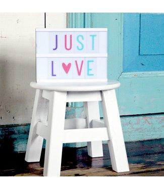 A Little Lovely Company Lightbox Letter set Pastell