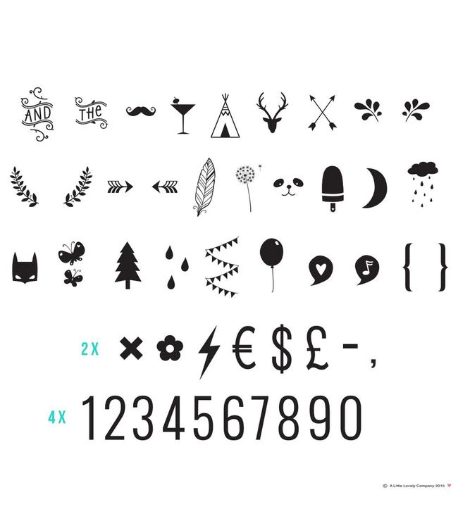 A Little Lovely Company Lightbox letter set Numbers & symbols