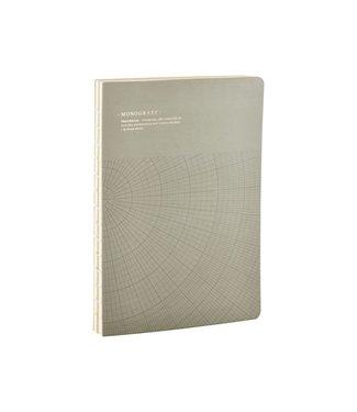 Monograph Notizbuch Geometic grau grün