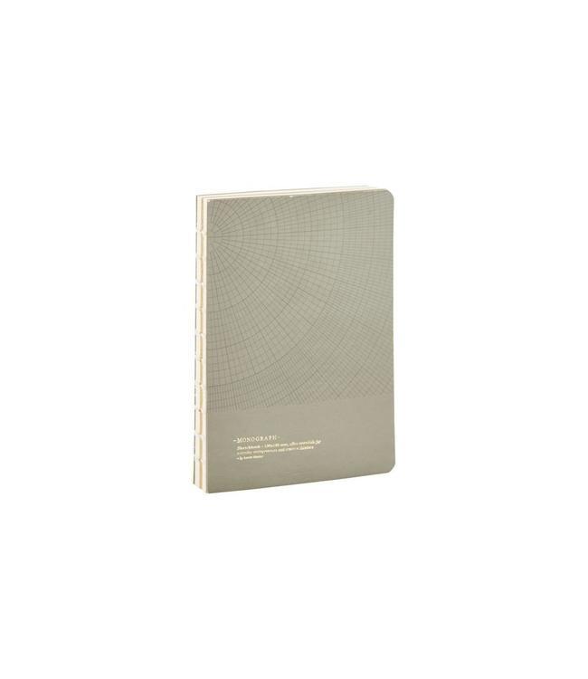 Monograph Notizbuch, Geometic, grau grün