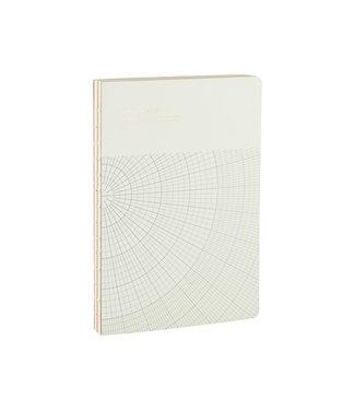 Monograph Notizbuch, Geometic, hellgrau
